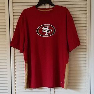 SAN FRANSICO 49ER'S COOL BASE T SHIRT RED/GOLD 2XL